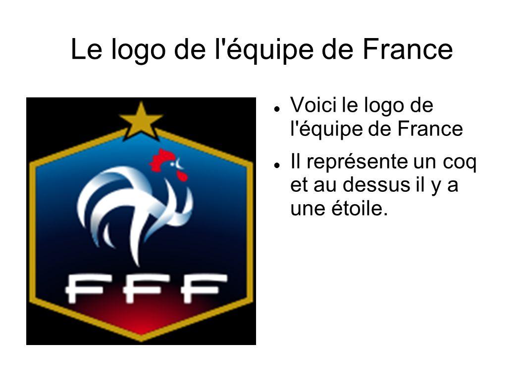 Le logo de l'équipe de France Voici le logo de l'équipe de France Il représente un coq et au dessus il y a une étoile.