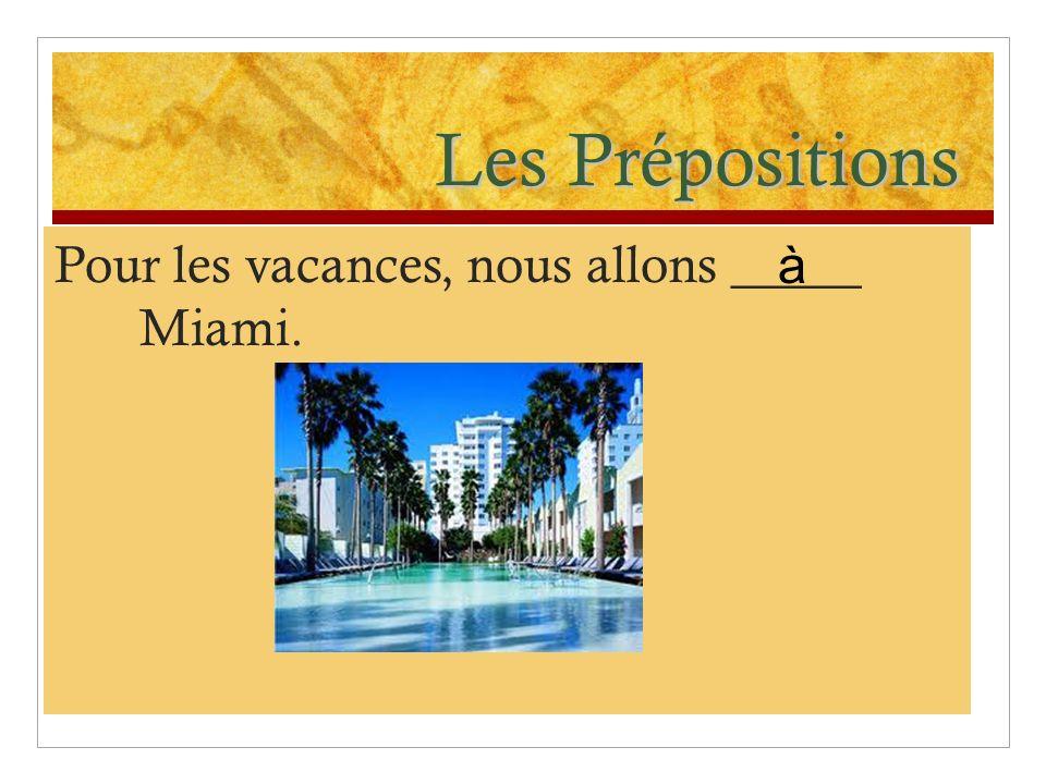 Les Prépositions 2.