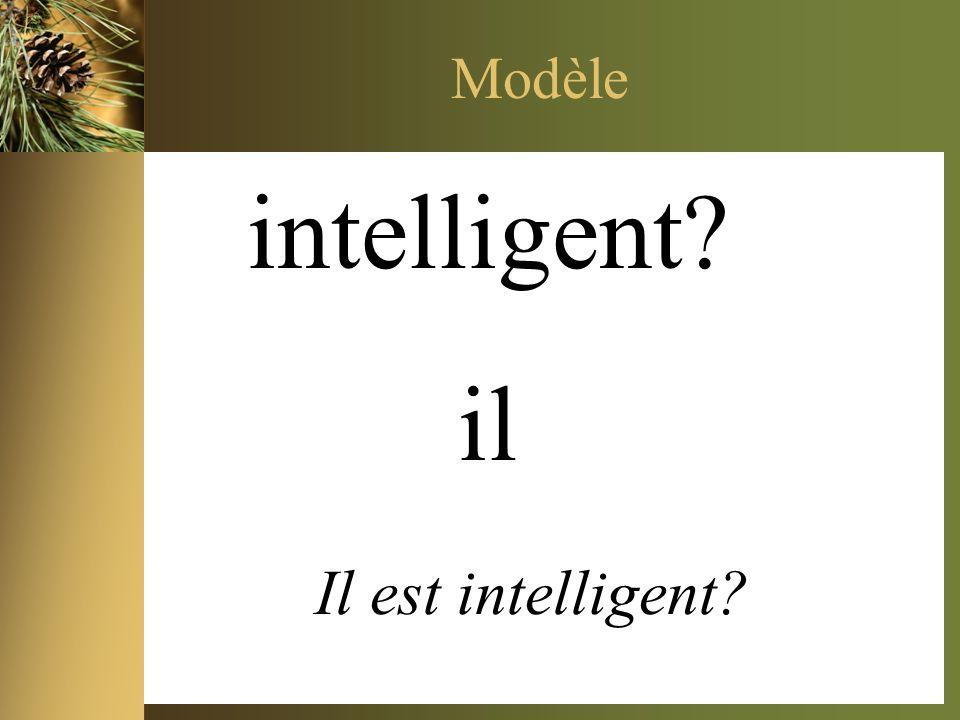 Modèle intelligent? il Il est intelligent?