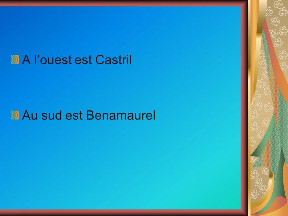 A louest est Castril Au sud est Benamaurel