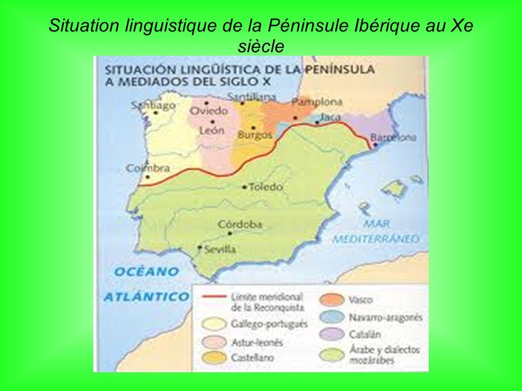 Situation linguistique de la Péninsule Ibérique au Xe siècle