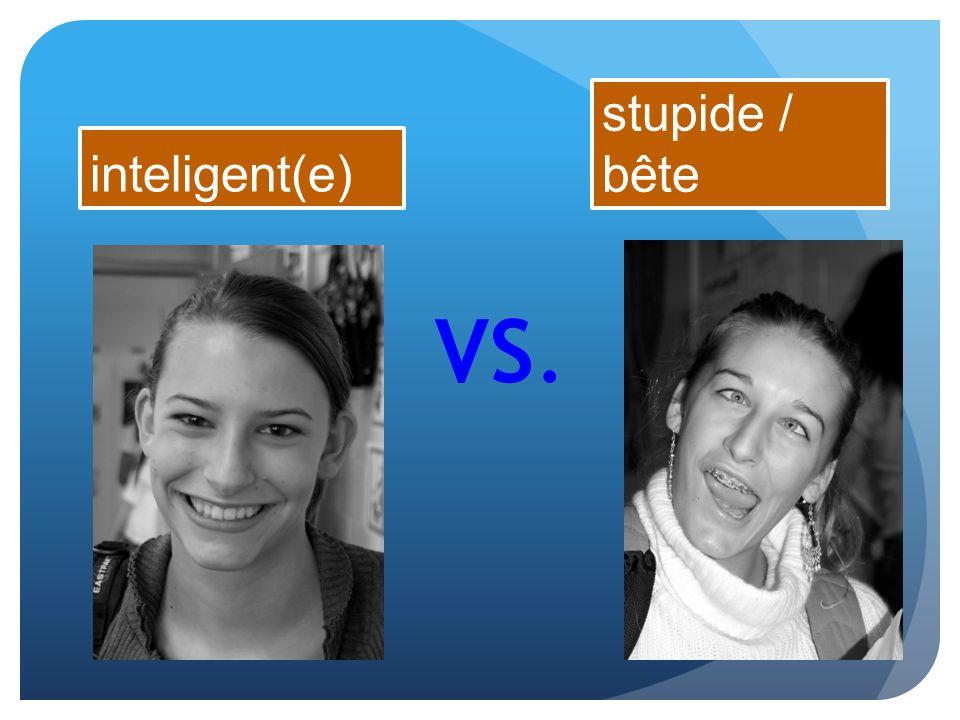 inteligent(e) VS. stupide / bête