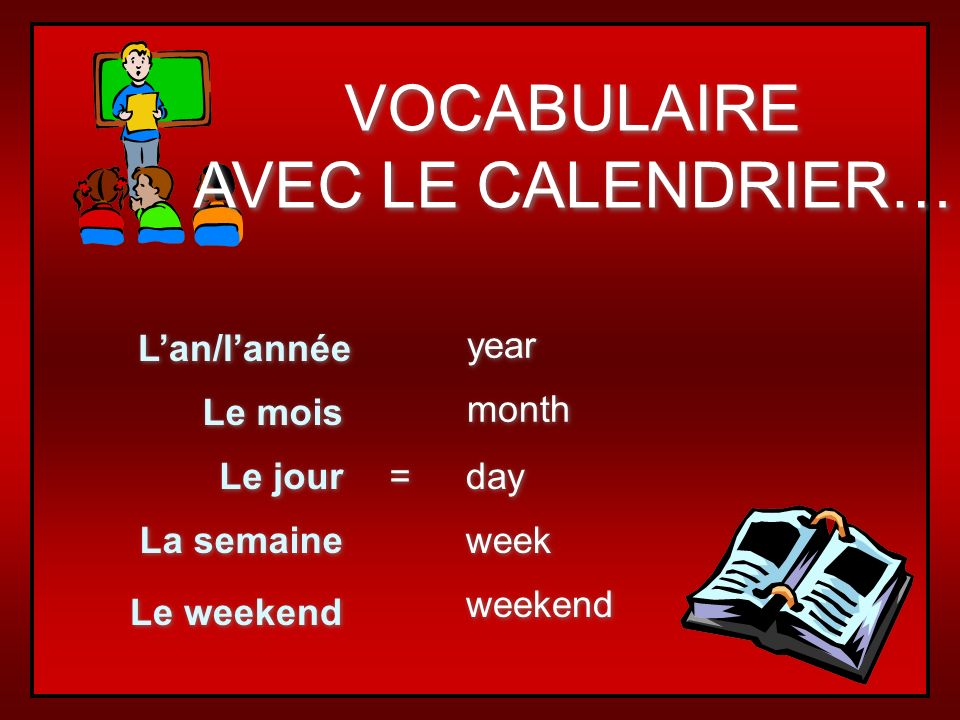 Les jours de la semaine dimanche lundi mardi mercredi jeudi vendredi samedi days of the week are not capitalized all days are masculine the French calendar begins dimanche.