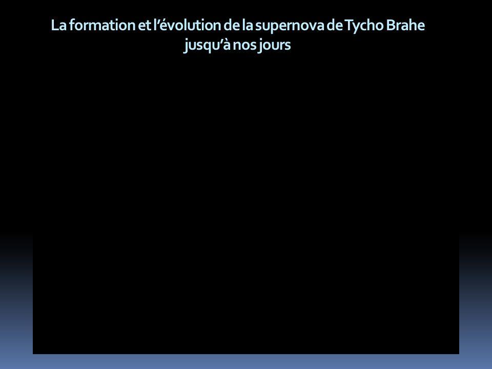La formation et lévolution de la supernova de Tycho Brahe jusquà nos jours