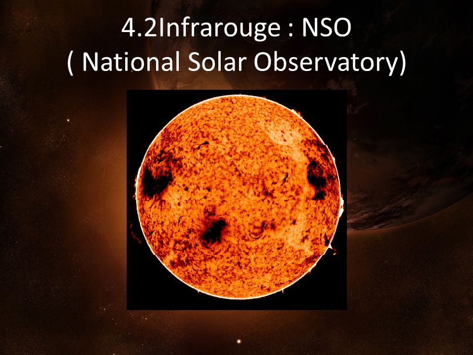 4.2Infrarouge : NSO ( National Solar Observatory)