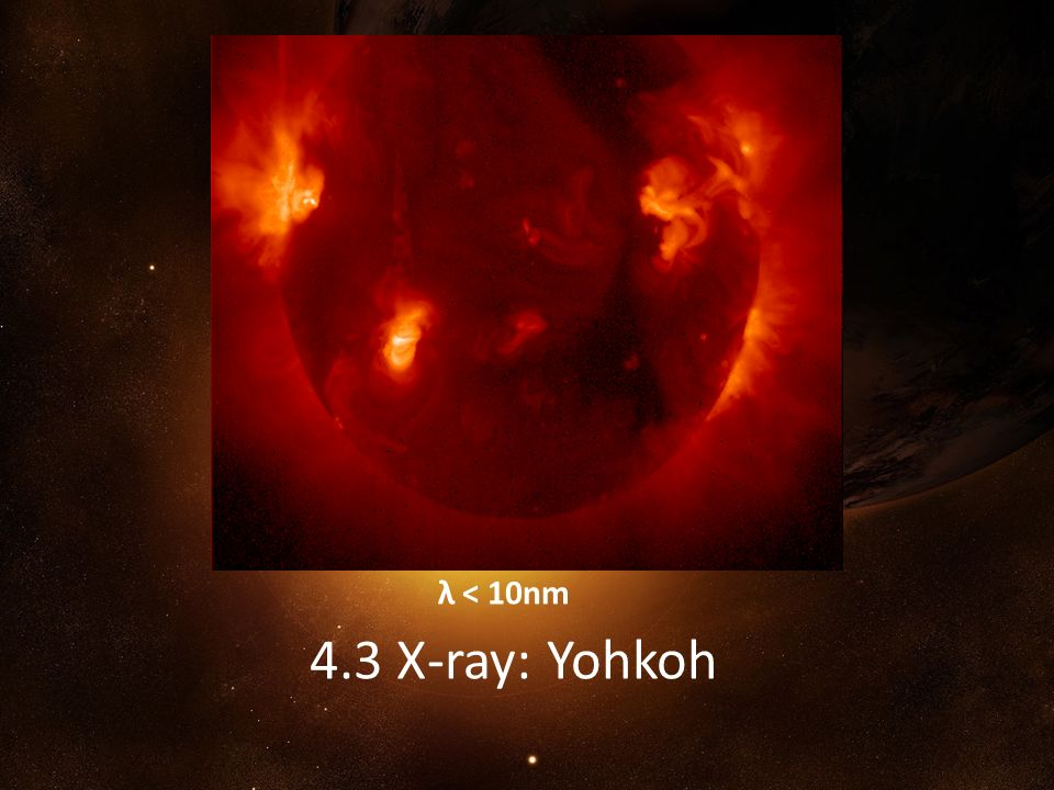 λ < 10nm 4.3 X-ray: Yohkoh