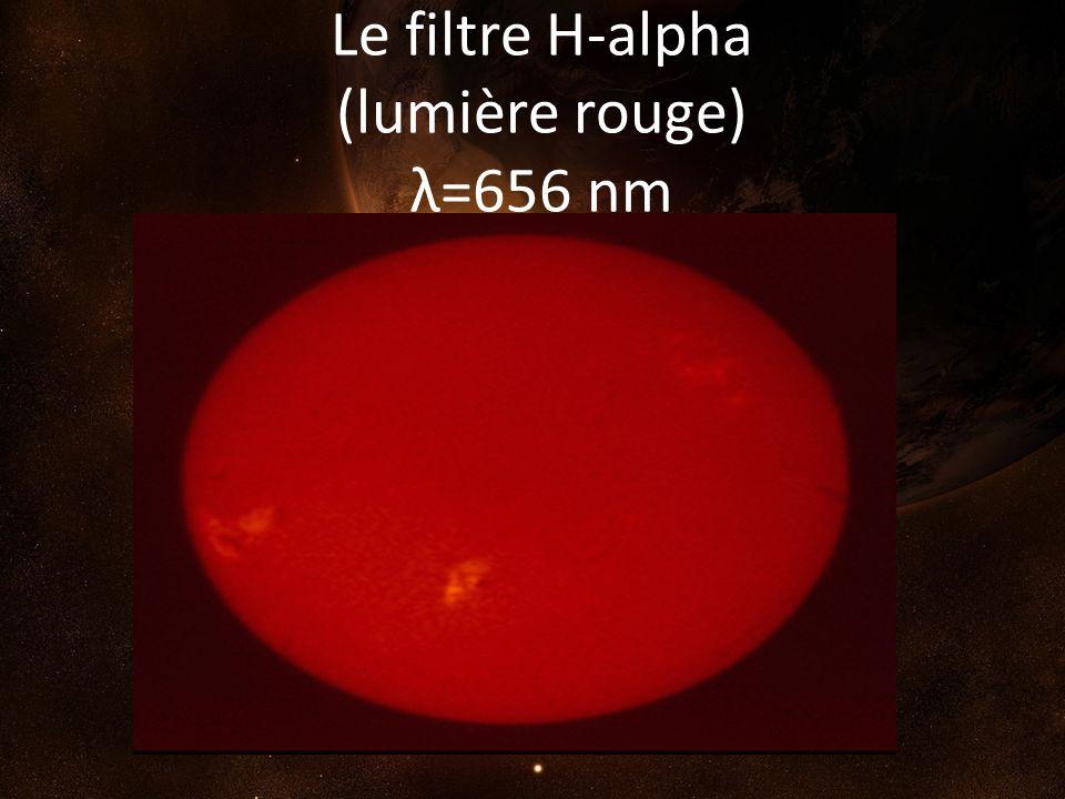 Le filtre H-alpha (lumière rouge) λ=656 nm
