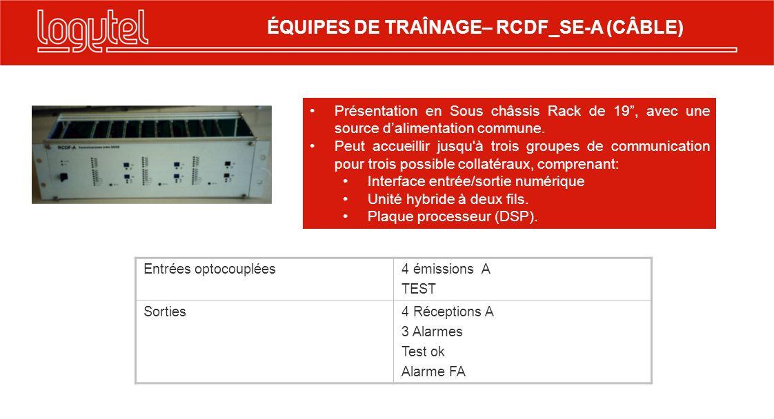 Transmission par cuivre MFM A - B Transmission par cuivre MFM B - A (F1, F2, F3, F4) Y (F5, F6, F7, F8) 950 à 1266, 1478 jusquà 1794 (F1, F2, F3, F4) Y (F5, F6, F7, F8) 2322 à 2639 Hz., 2850 à 3167 Hz garde en 739 Hzgarde en 2111 Hz TX - Ajustable de 0 à-10 dBmRX sensibilité -36 dBm La transmission se réalise en canal de phone à deux fils, 300 jusquà 3400: Valable pour câble téléphonique, câble chargé H66, Canal Analogique sur les équipements PDH.