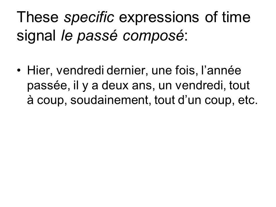 Verbs of description are usually imparfait: Aimer, avoir, croire, devoir, espérer, être, penser, pouvoir, savoir, vouloir, etc.
