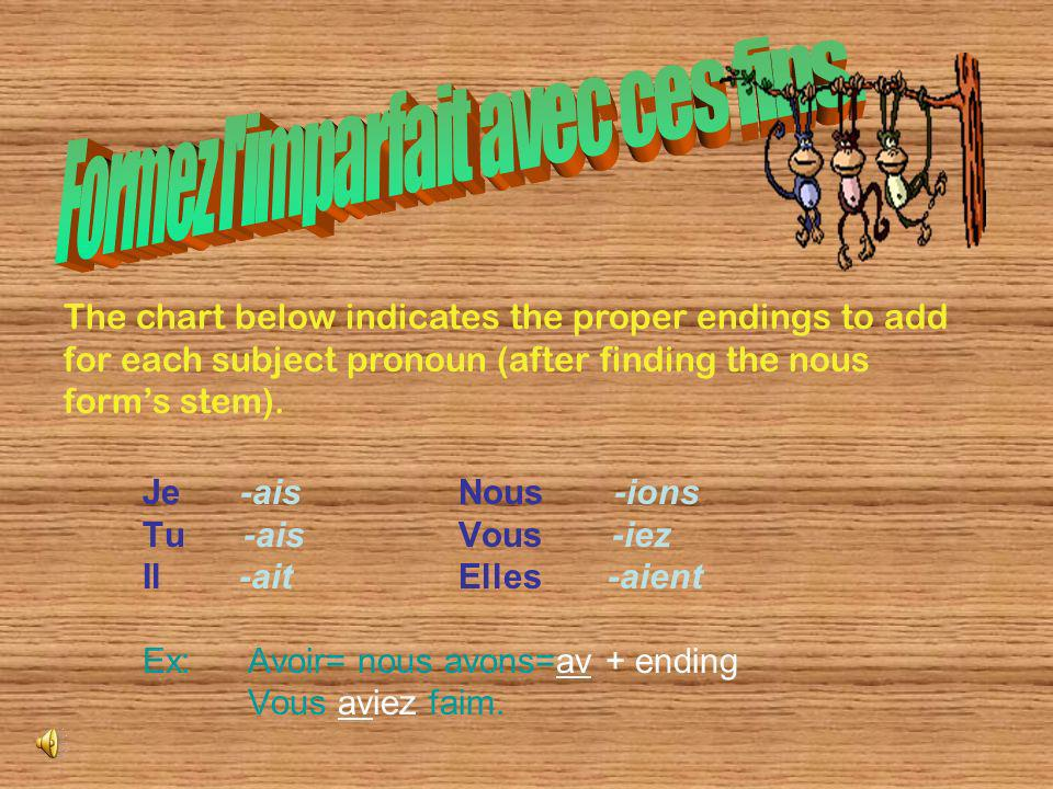 The imparfait consists of one word, unlike the passé composés two word formation.