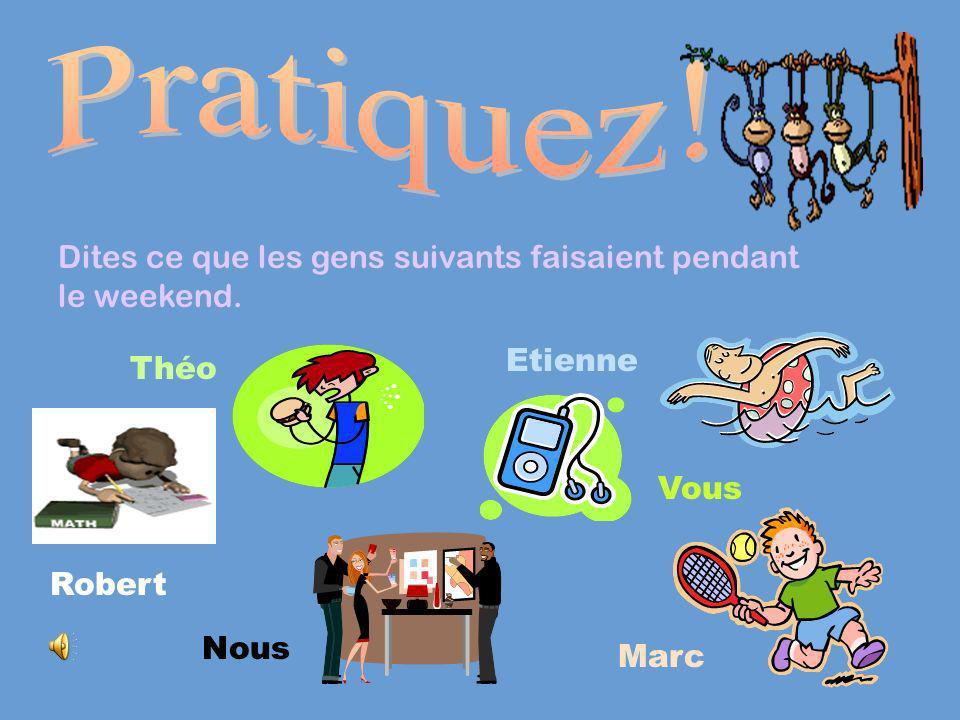 The imparfait forms of être Use ét- and then add imparfait endings: jétaisnous étions Tu étaisvous étiez Il/elle/on étaitIls/Elles étaient