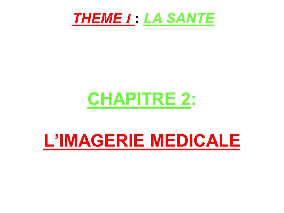 CHAPITRE 2: LIMAGERIE MEDICALE THEME I : LA SANTE