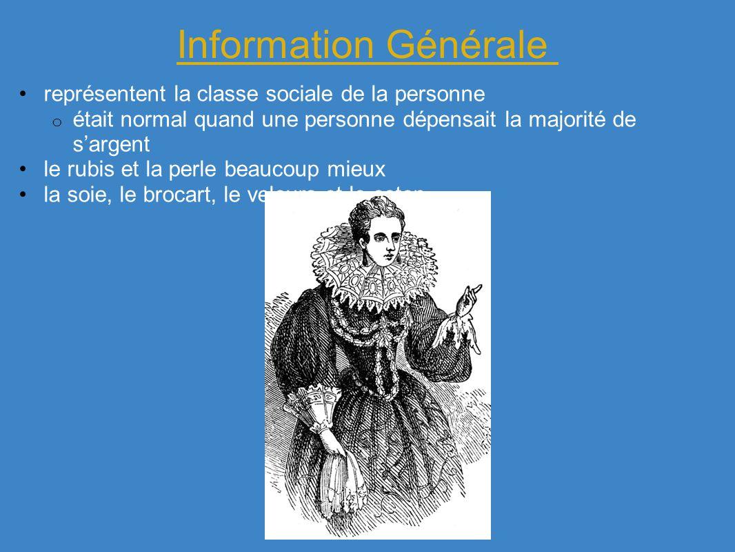 Information Générale représentent la classe sociale de la personne o était normal quand une personne dépensait la majorité de sargent le rubis et la p
