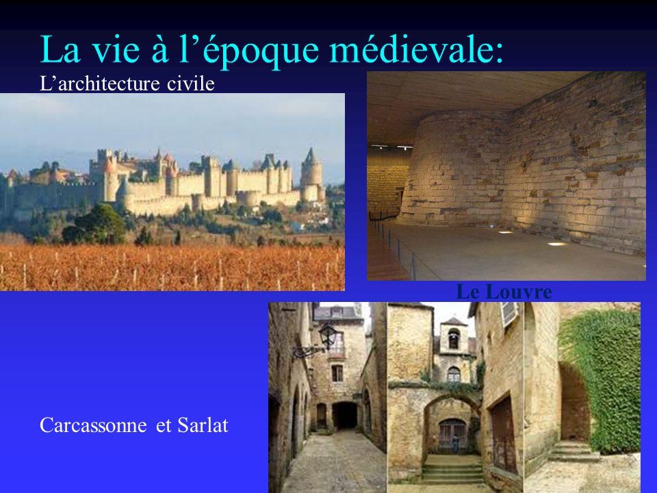 La vie à lépoque médievale: Larchitecture civile Carcassonne et Sarlat Le Louvre