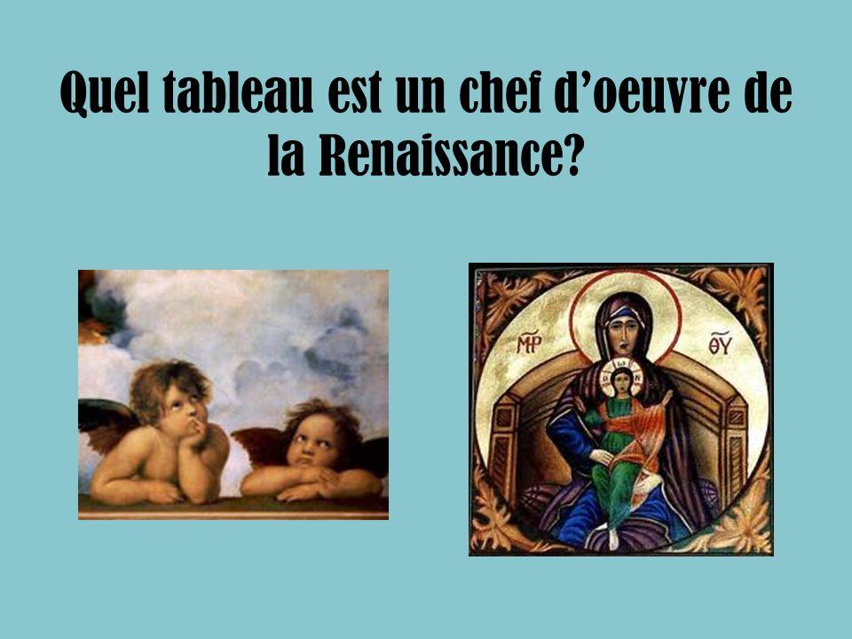 Quel tableau est un chef doeuvre de la Renaissance?