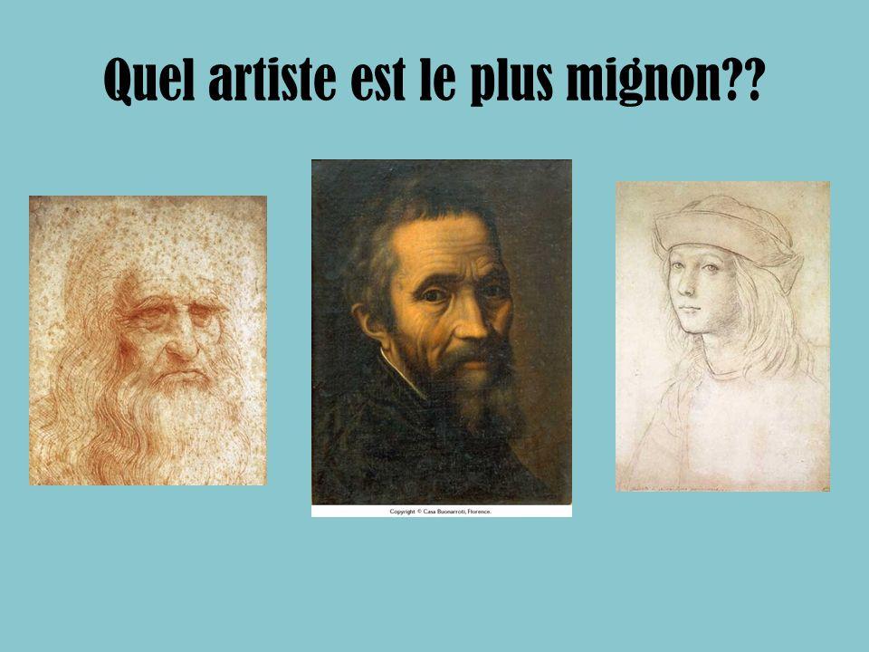 Quel artiste est le plus mignon??