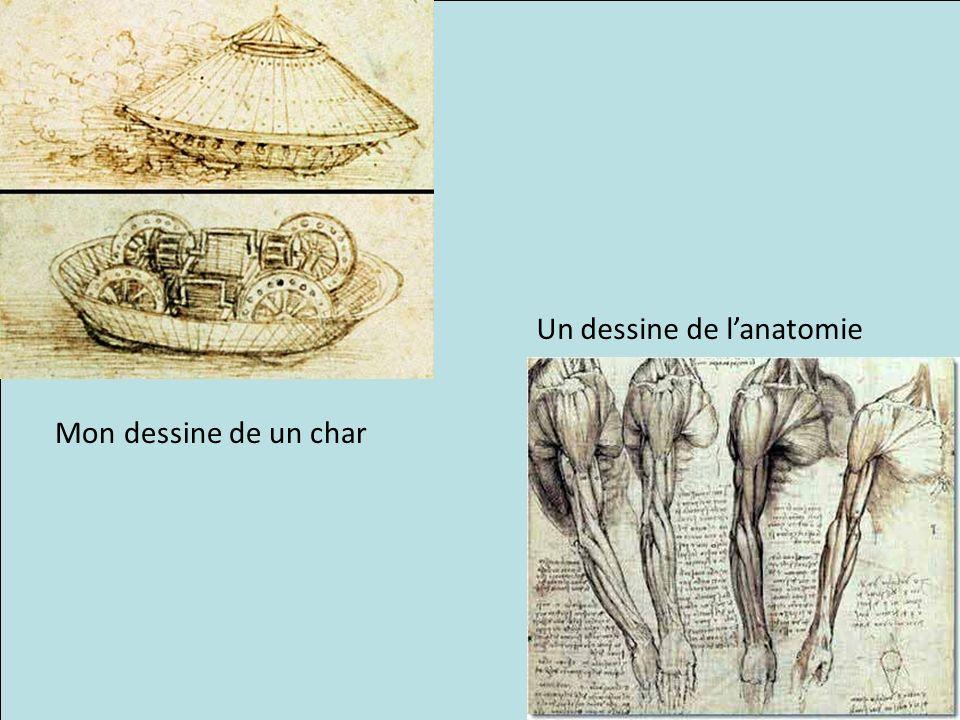 Mon dessine de un char Un dessine de lanatomie
