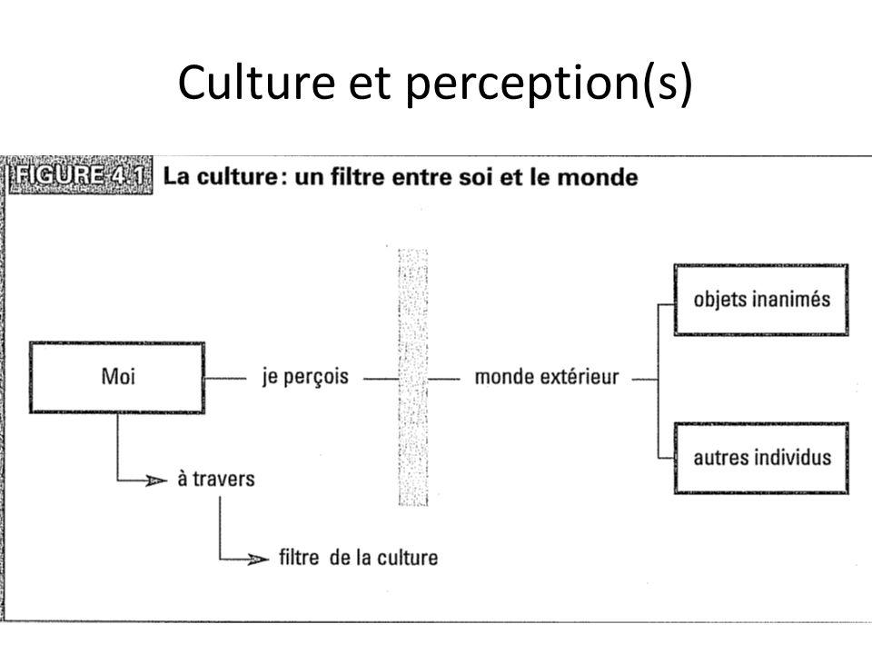 Culture et perception(s)