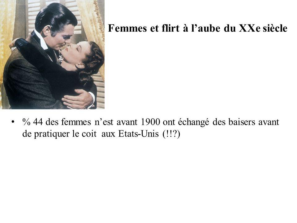 Femmes et flirt à laube du XXe siècle % 44 des femmes nest avant 1900 ont échangé des baisers avant de pratiquer le coit aux Etats-Unis (!! )