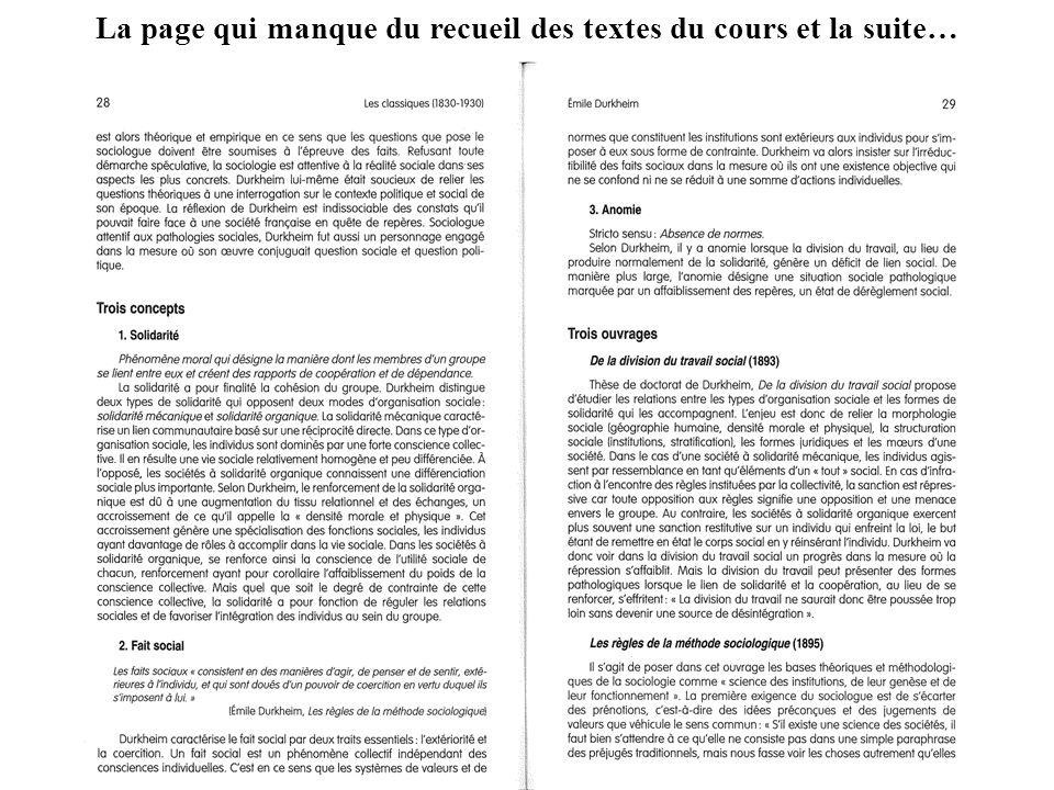 La page qui manque du recueil des textes du cours et la suite… 34