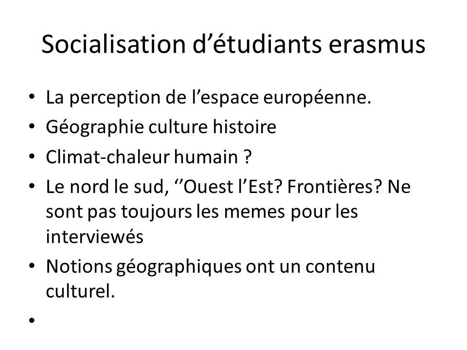 Socialisation détudiants erasmus La perception de lespace européenne.