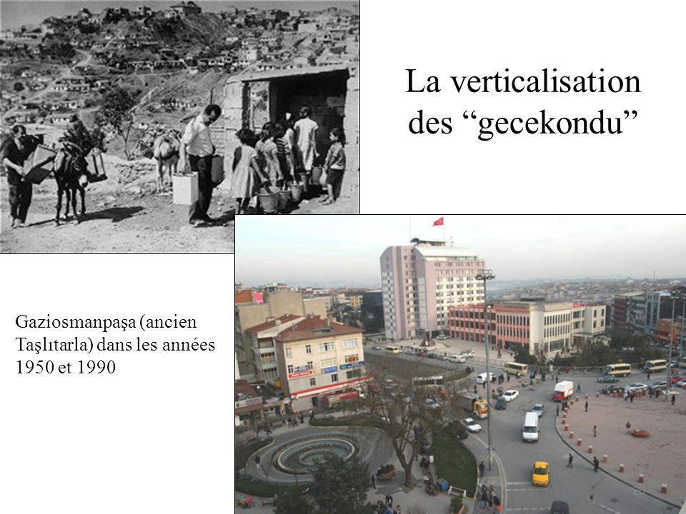 La verticalisation des gecekondu Gaziosmanpaşa (ancien Taşlıtarla) dans les années 1950 et 1990 26