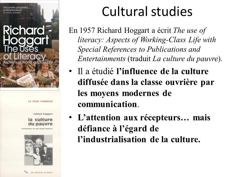 Cultural studies Raymond Williams, Edward P.