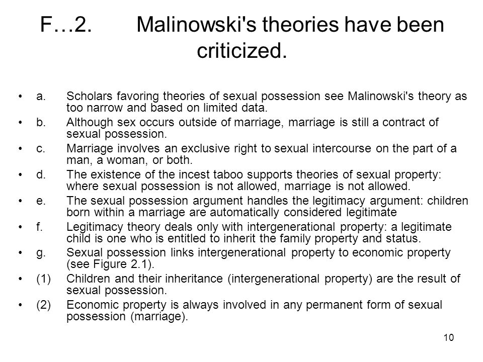 10 F…2.Malinowski s theories have been criticized.