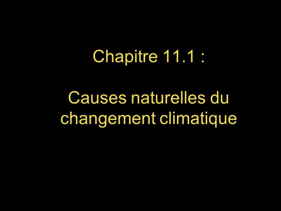Chapitre 11.1 : Causes naturelles du changement climatique