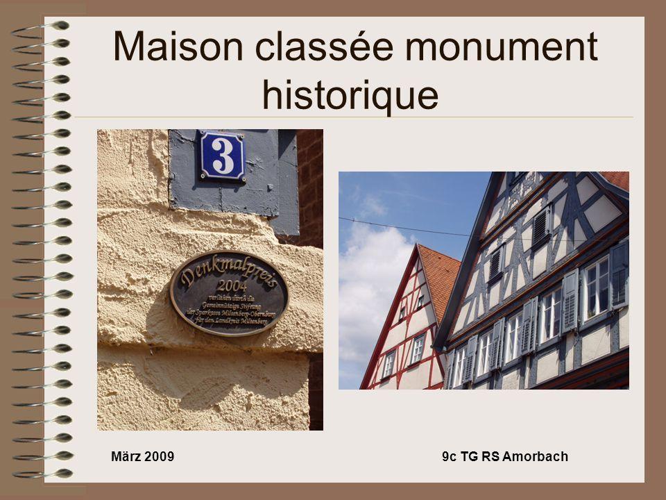 März 20099c TG RS Amorbach Maison classée monument historique