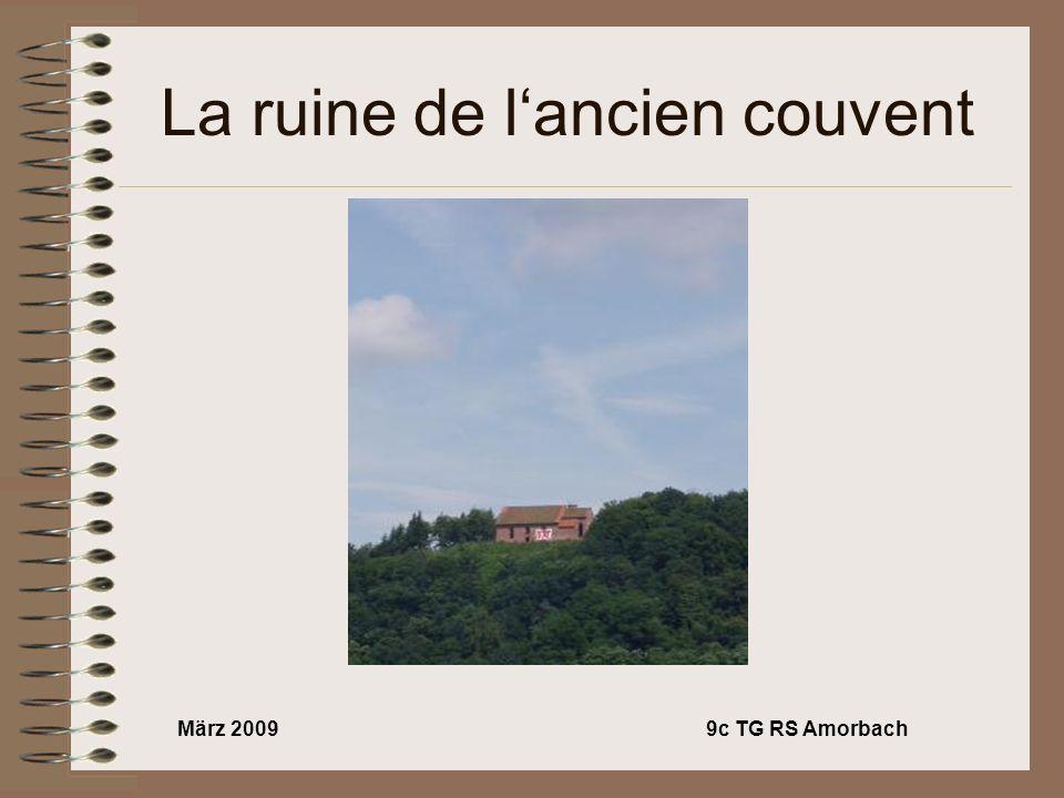 März 20099c TG RS Amorbach La ruine de lancien couvent