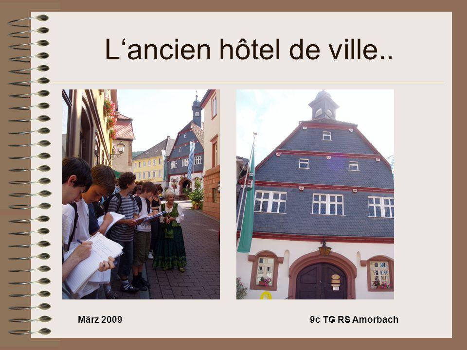 März 20099c TG RS Amorbach Le premier immeuble dAmorbach..