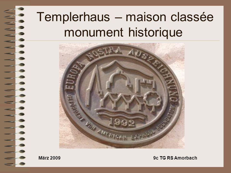 März 20099c TG RS Amorbach Templerhaus – maison classée monument historique