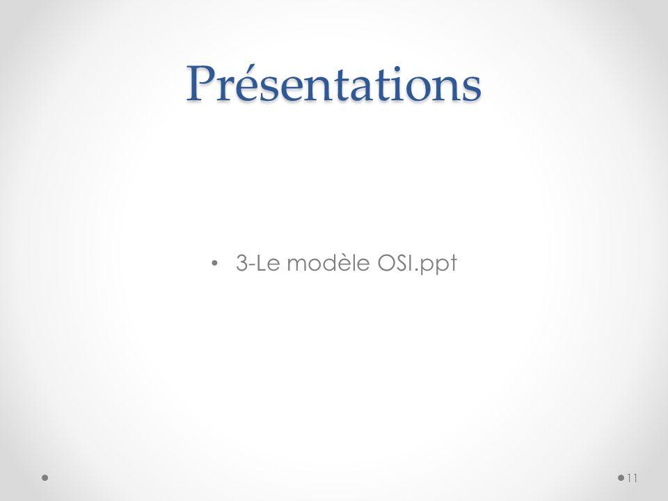 Présentations 3-Le modèle OSI.ppt 11