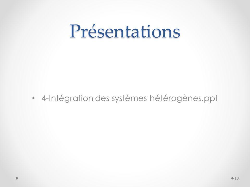 Présentations 4-Intégration des systèmes hétérogènes.ppt 12