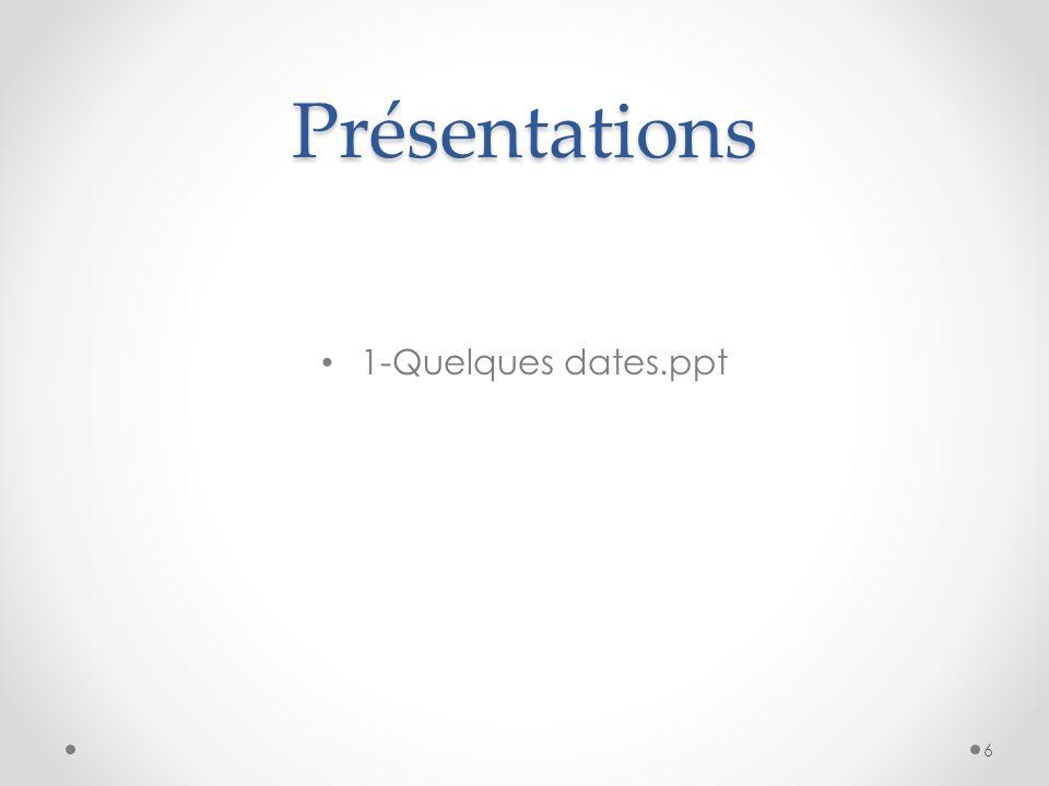 Présentations 6 – Introduction aux dns 17
