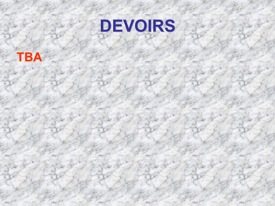 DEVOIRS TBA