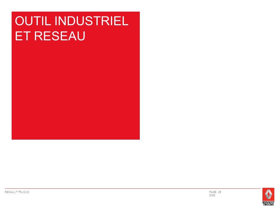 RENAULT TRUCKSPAGE 25 2009 OUTIL INDUSTRIEL ET RESEAU
