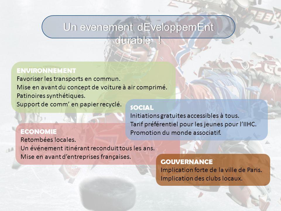 ECONOMIE Retombées locales. Un événement itinérant reconduit tous les ans. Mise en avant dentreprises françaises. Un evenement dEveloppemEnt durable !