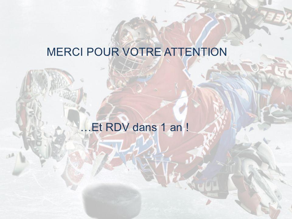 MERCI POUR VOTRE ATTENTION …Et RDV dans 1 an !