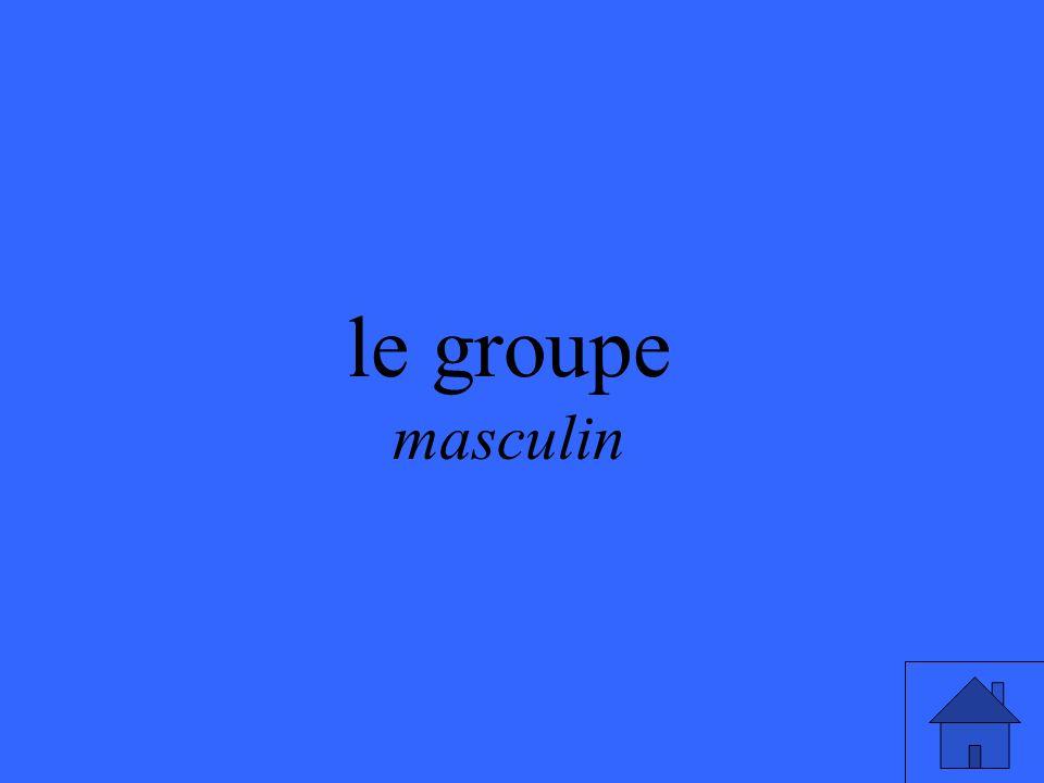 le groupe masculin