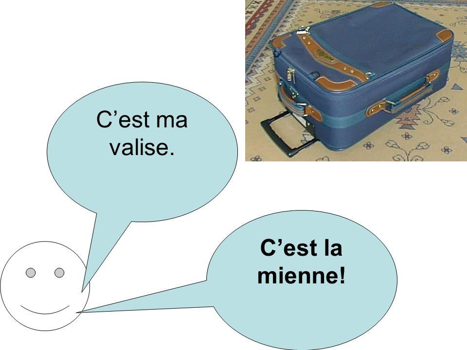 Cest ma valise. Cest la mienne!