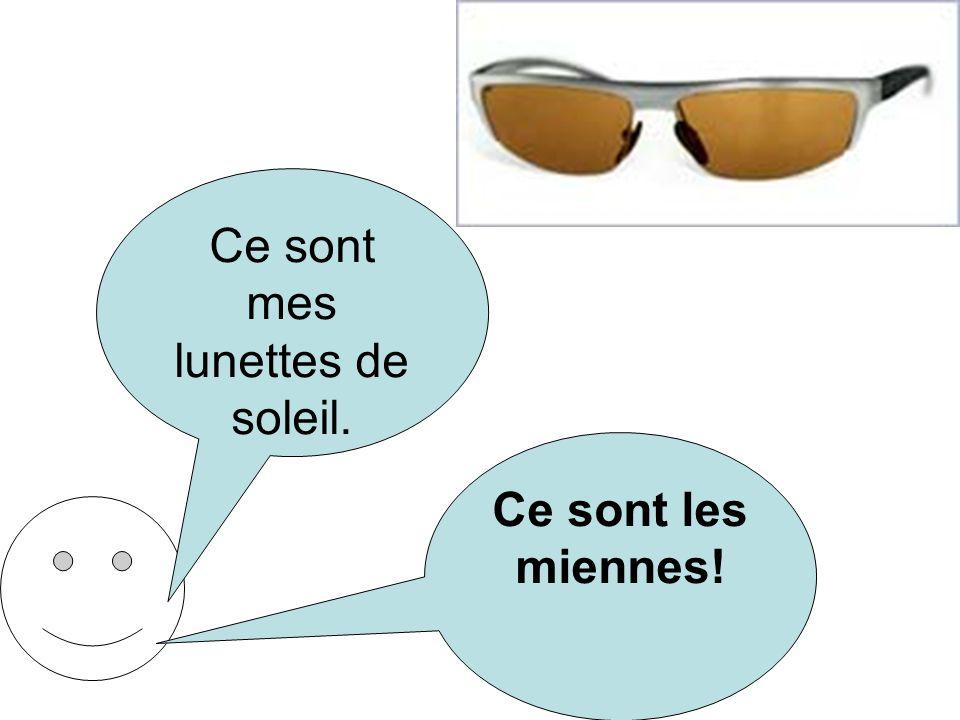 Ce sont mes lunettes de soleil. Ce sont les miennes!