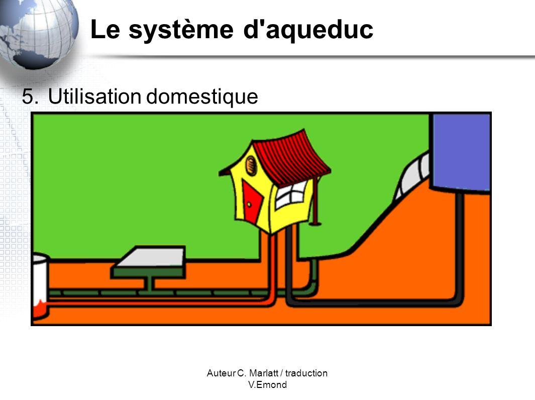 Auteur C. Marlatt / traduction V.Emond Le système d aqueduc 5. Utilisation domestique