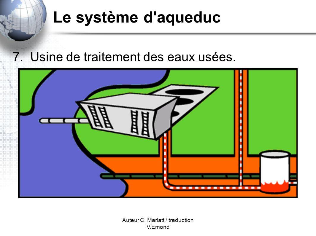 Auteur C. Marlatt / traduction V.Emond Le système d aqueduc 7. Usine de traitement des eaux usées.