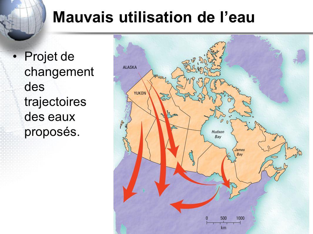 Auteur C. Marlatt / traduction V.Emond Projet de changement des trajectoires des eaux proposés.