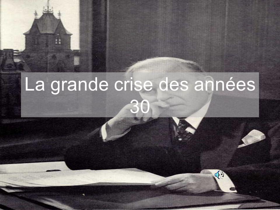 La grande crise des années 30