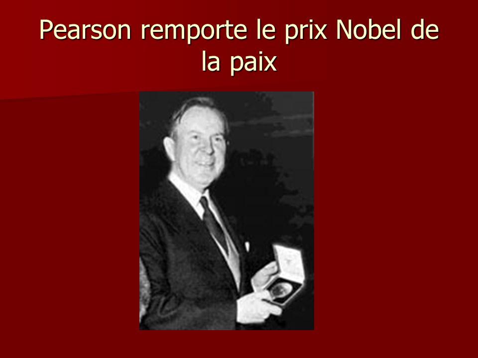 Pearson remporte le prix Nobel de la paix