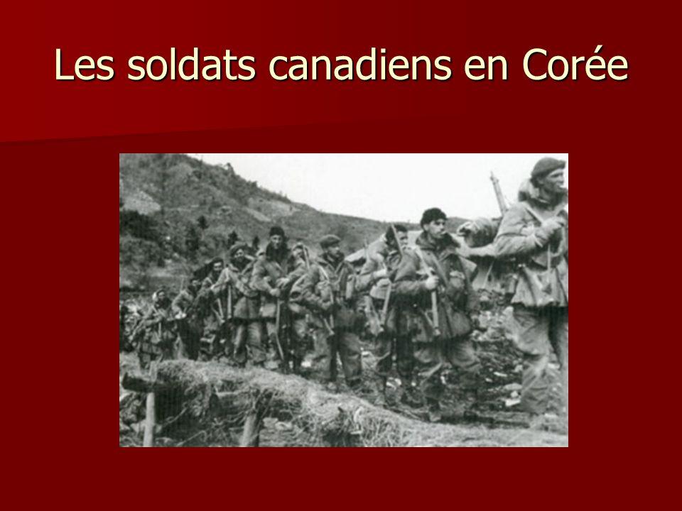 Les soldats canadiens en Corée