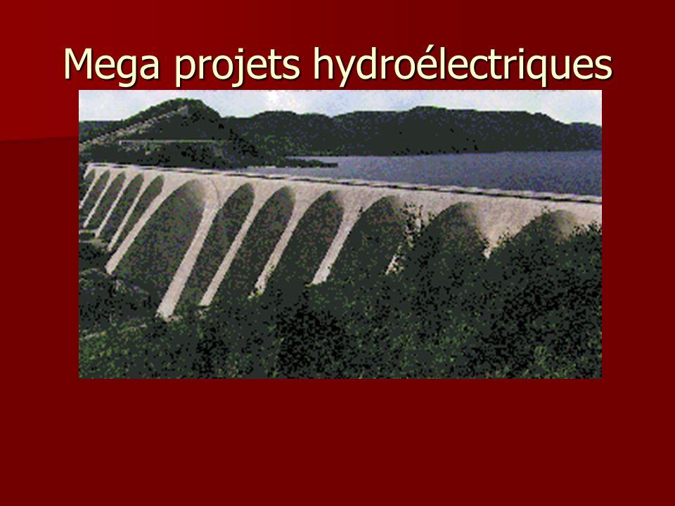 Mega projets hydroélectriques